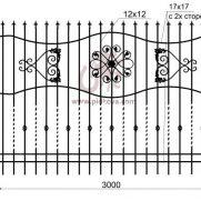 Кованый забор z2-08