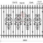 Кованый забор z2-10