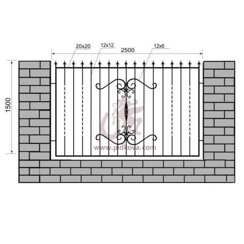 Кованый забор z1-02