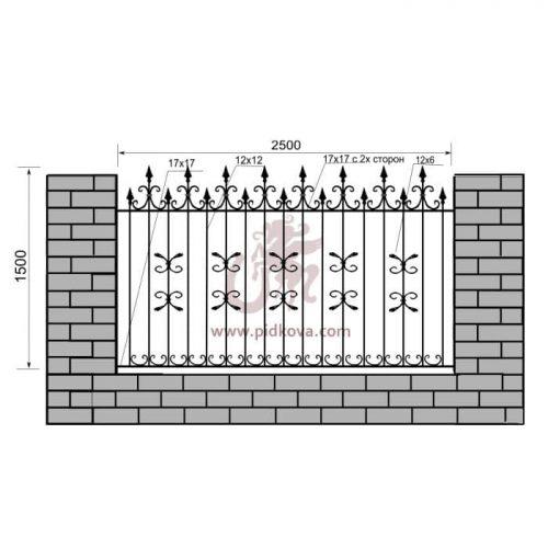 Кованый забор z1-08