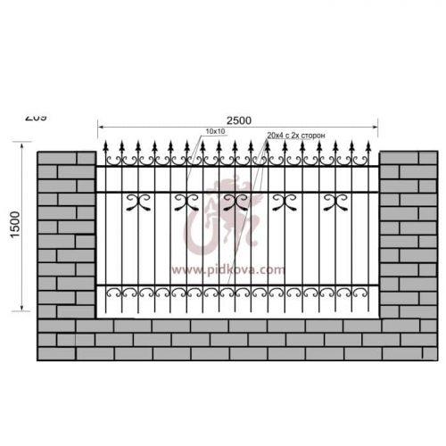 Кованый забор z1-09