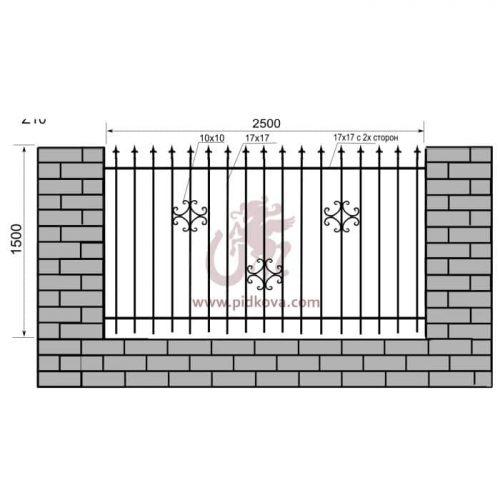 Кованый забор z1-10