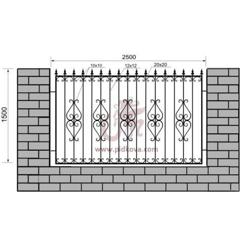 Кованый забор z1-11