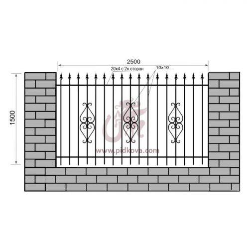 Кованый забор z1-12