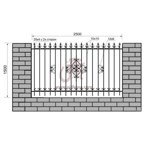 Кованый забор z1-13