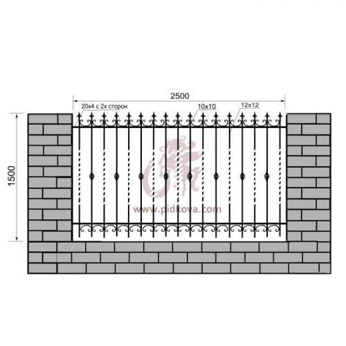Кованый забор z1-15