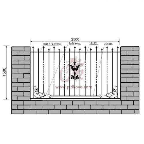 Кованый забор z1-16