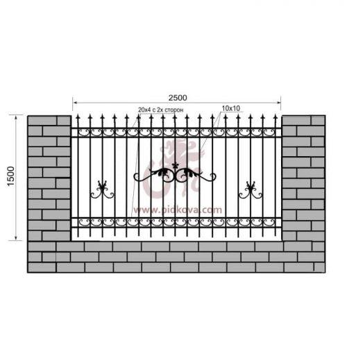 Кованый забор z1-17