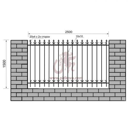 Кованый забор z1-19