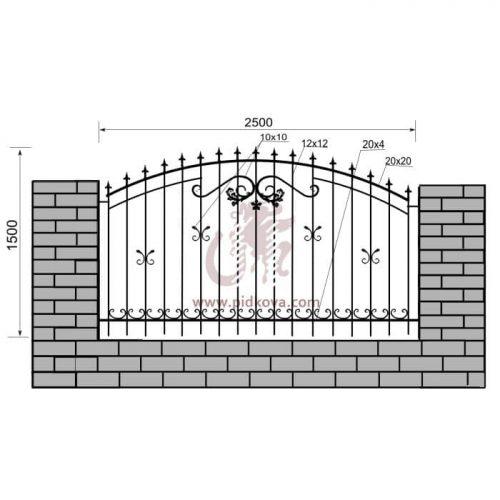 Кованый забор z1-20
