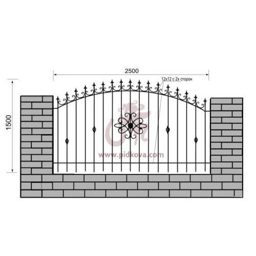 Кованый забор z1-21