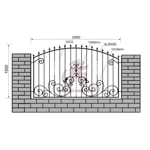 Кованый забор z1-212