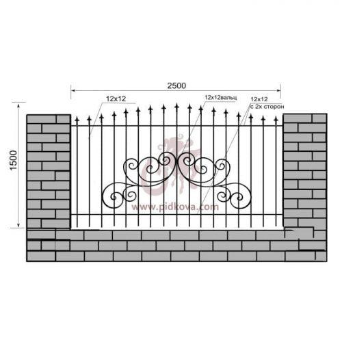 Кованый забор z1-23