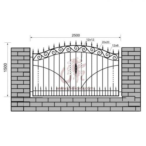 Кованый забор z1-24