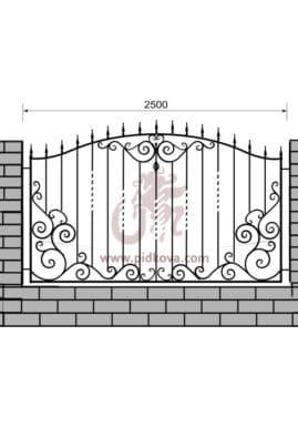 Кованый забор z1-25