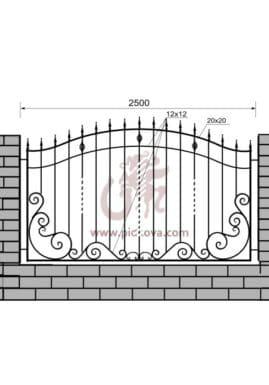 Кованый забор z1-26