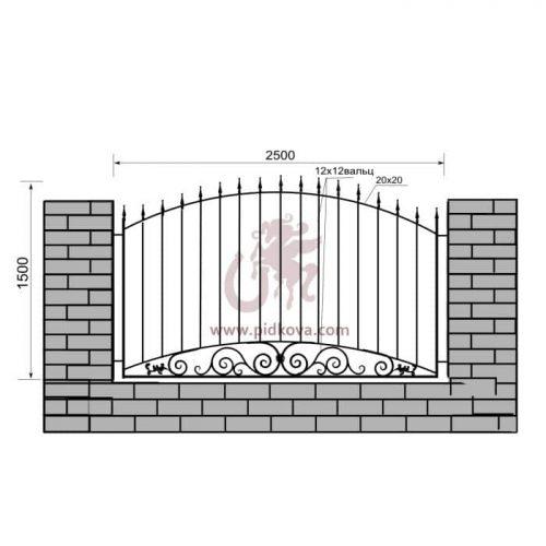 Кованый забор z1-27