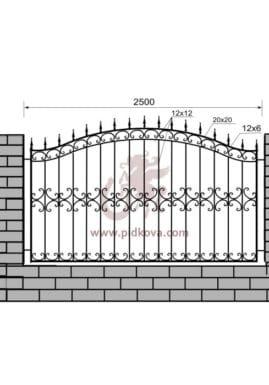 Кованый забор z1-28