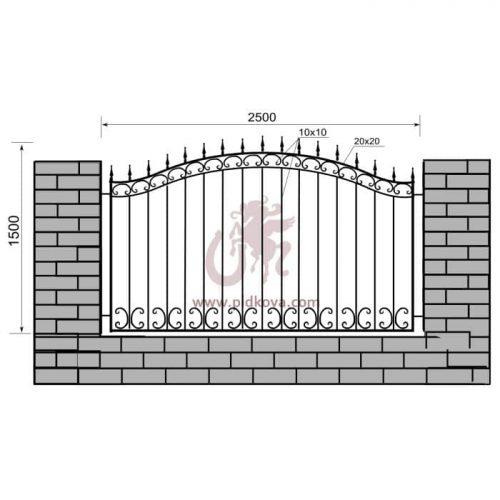 Кованый забор z1-29