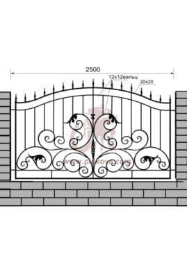Кованый забор z1-30