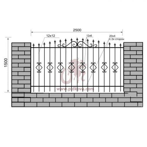 Кованый забор z1-31