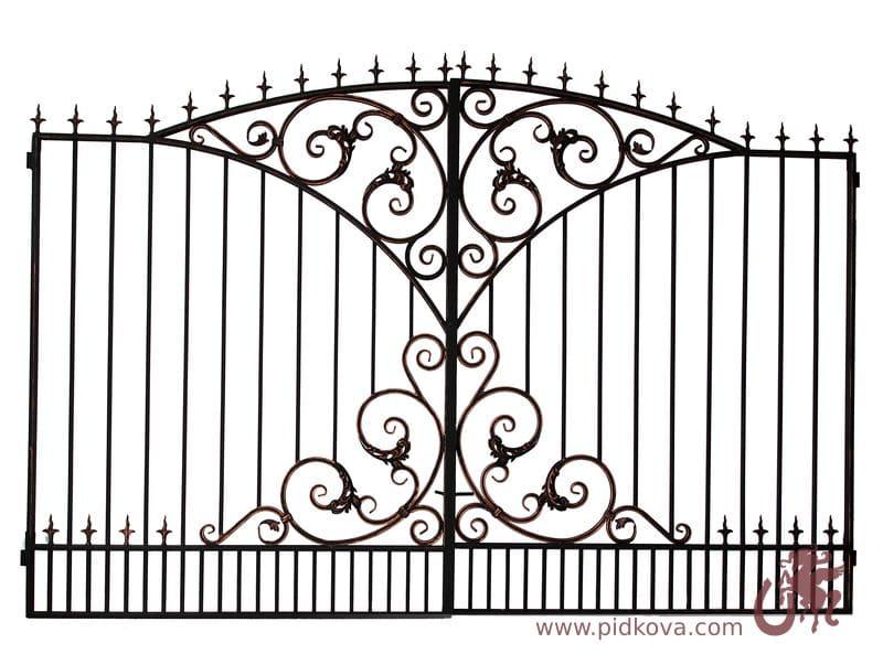 ворота кованые профтруба