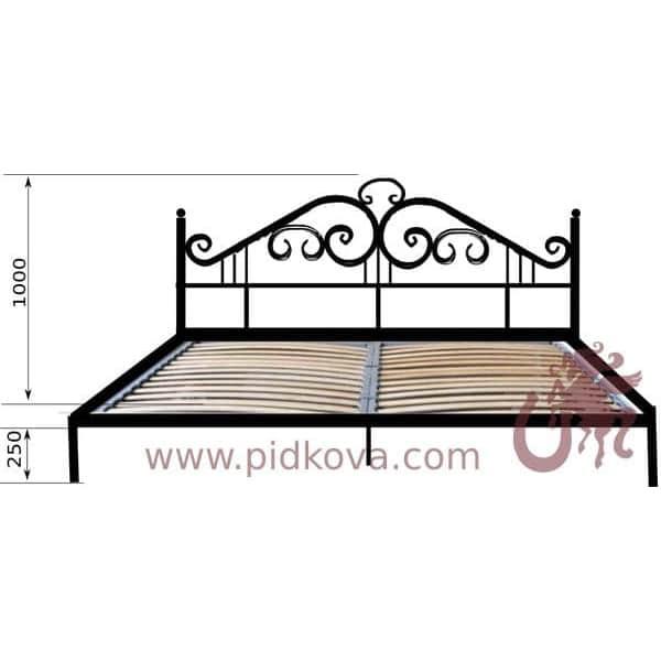 Кованая кровать, Кэрен. С вкладным каркасом, ламели