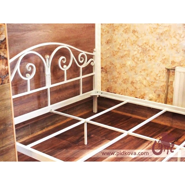 Кованая кровать, Лана. Цвет белый