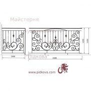Кованый балкон, В-100