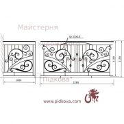 Кованый балкон, В-98