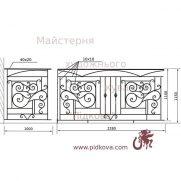 Кованый балкон, В-96