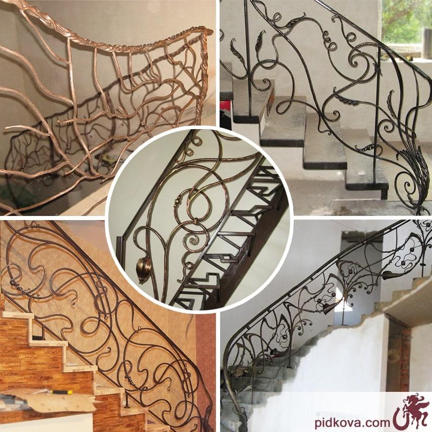 Кованые перила для лестниц - ручная ковка