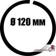 Кованое кольцо Ø 120 мм