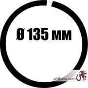 Кованое кольцо Ø 135 мм
