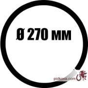 Кованое кольцо Ø 270 мм