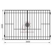 Распашные ворота геометрия к01