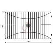 Распашные ворота геометрия к03