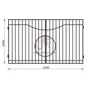 Распашные ворота геометрия к05