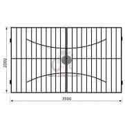 Распашные ворота геометрия к06