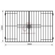 Распашные ворота геометрия к07