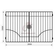 Распашные ворота геометрия к08