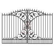 Кованые распашные ворота кэ01