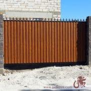 откатные автоматические ворота с профлистом