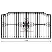 Распашные кованые ворота рэ-5