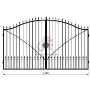 Распашные кованые ворота рэ-6