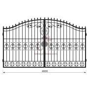 Распашные кованые ворота рэ-7