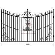Распашные кованые ворота рэ-8