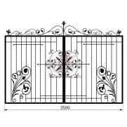 Распашные кованые ворота рэ-13