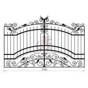 Распашные кованые ворота рэ-20