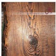 состаренная столешница кованого сотла бамбук
